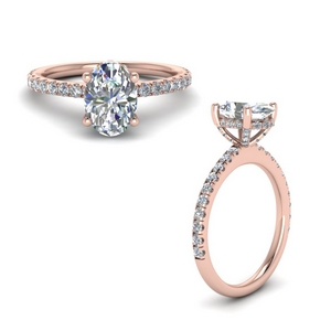 3 Ct. Pave Wrap Engagement Ring
