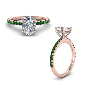 High Set Diamond Wedding Ring