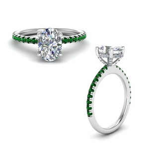 Oval Shaped Diamond Prong Ring