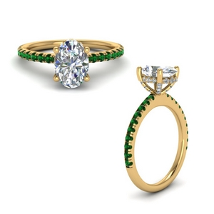 Emerald French Pave Ring