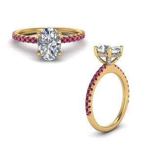 Petite Engagement Ring With Pink Sapphire