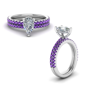 Petite Purple Topaz Ring Set