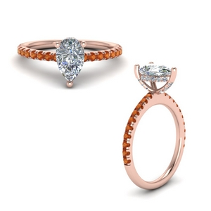 Pear Shaped High Set Ring