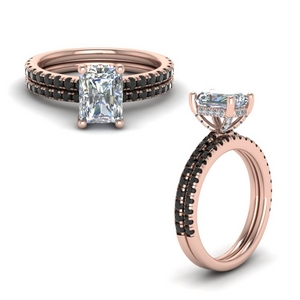 Radiant Cut Wedding Ring Set