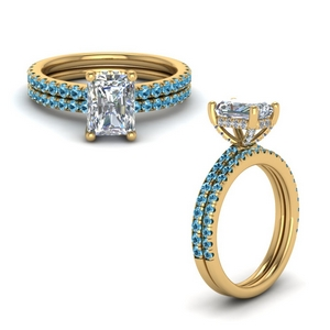 Petite Ring Set With Topaz