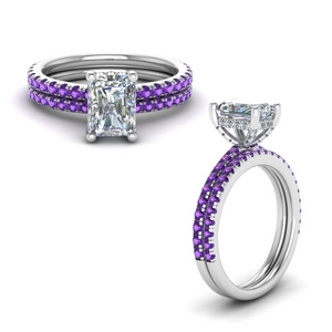 Delicate Purple Topaz Ring Set