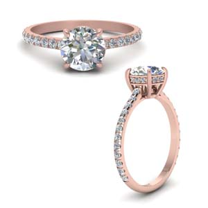 Petite Engagement Ring With Hidden Halo