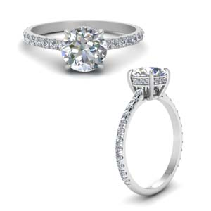 Hidden Halo Round Diamond Ring