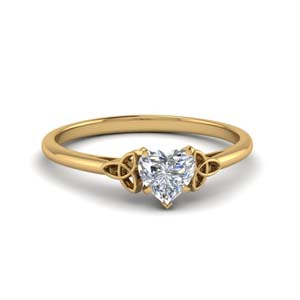 Celtic Solitaire Diamond Ring