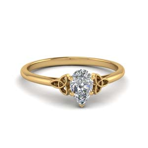 Celtic Pear Shaped Diamond Ring