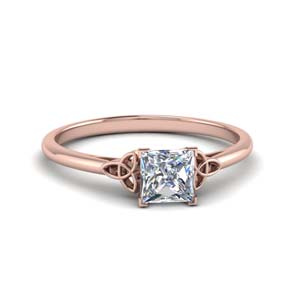 celtic princess cut solitaire engagement ring in FD8541PRR NL RG