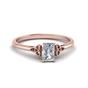 celtic radiant cut solitaire engagement ring in FD8541RAR NL RG