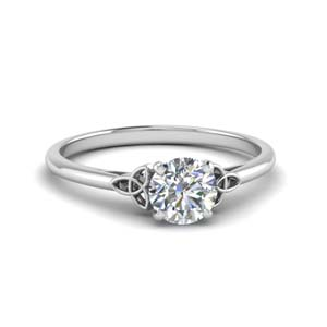 1 Carat Diamond Solitaire Celtic Ring