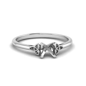 celtic semi mount solitaire engagement ring in FD8541SMR NL WG