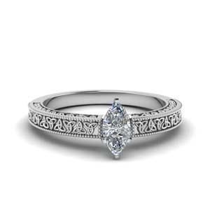 Solitaire Marquise Diamond Rings