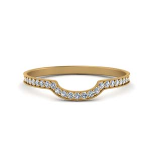 Pave Diamond Band With Milgrain