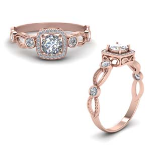 Classic Square Halo Ring