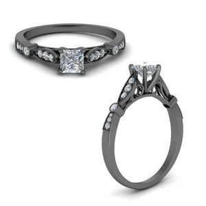 Princess Cut Petite Ring