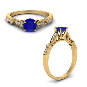 Sapphire Antique Engagement Ring