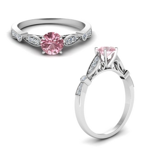 Morganite Cathedral Ring