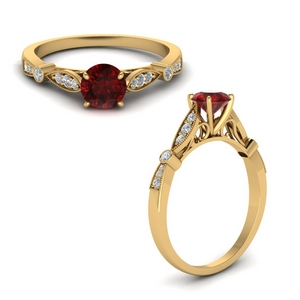 Art Deco Vintage Ruby Ring