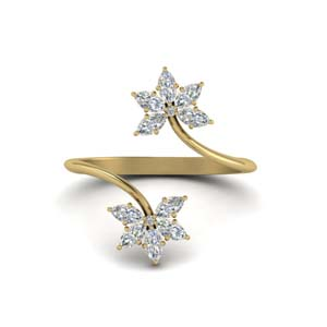 18K Gold Alternative Diamond Ring
