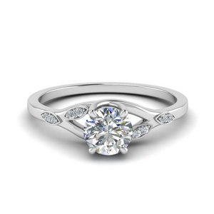 Branch Petite Round Diamond Ring