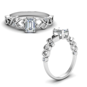 Intertwined Filigree Diamond Ring