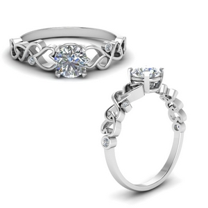 Moissanite Intertwined Vintage Ring