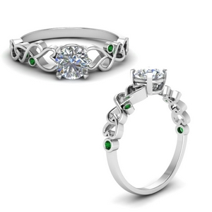 Intertwined Emerald Ring