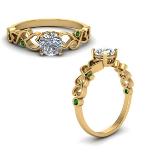 Classic Emerald Engagement Ring