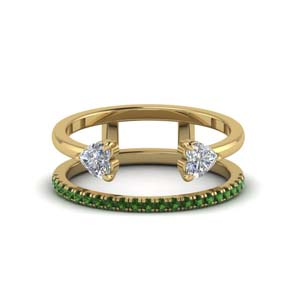 Emerald Wedding Band In 18k Gold