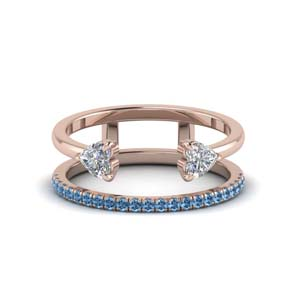 Women Band With Blue Topaz