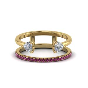 Negative Space Pink Sapphire Band