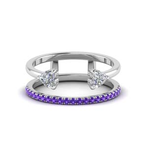 Purple Topaz Open Cuff Band