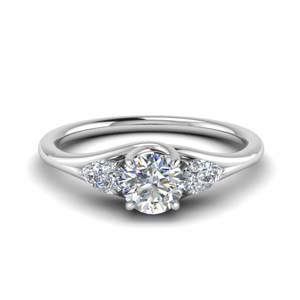 3 Stone Trellis Engagement Ring