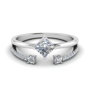 Kite Diamond Ring With Open Band