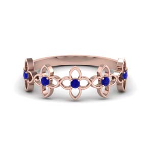 Wedding Band With Sapphire