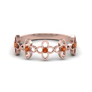 Orange Sapphire Band For Women