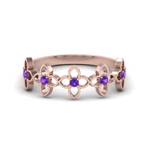 Flower Purple Topaz Band