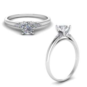 Petite Dome Engagement Ring