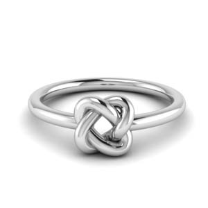 White Gold Knot Wedding Ring