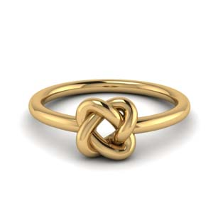 Gold Love Knot Promise Ring