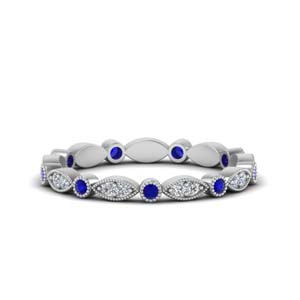 0.35 Ct. Art Deco Sapphire Eternity Band