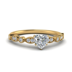 Milgrain Wedding Ring For Women