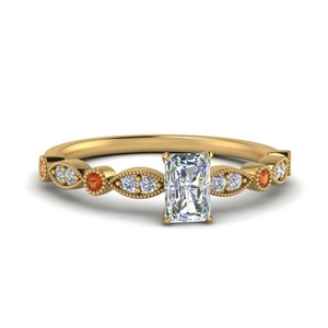 14K Yellow Gold Side Stone Ring