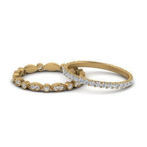 Vintage Stackable Wedding Rings