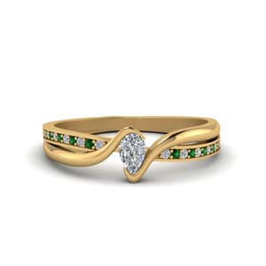 Yellow Gold Emerald Wedding Ring