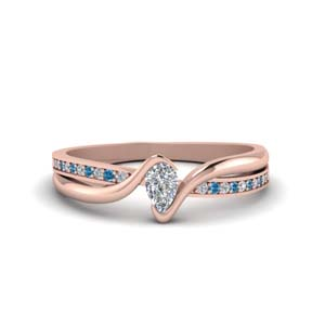 Pear Shaped Rose Gold Ring