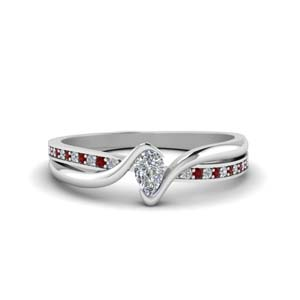 Ruby Engagement Ring White Gold